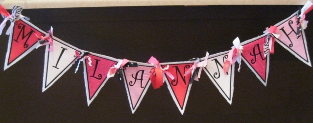 Fabric Banner Birthday Banner Personalized Banner