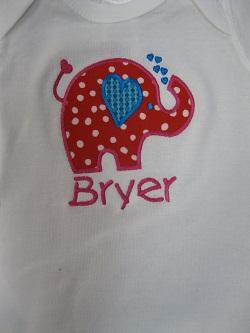 Elephant Valentine-valentine, baby outfit, elephant
