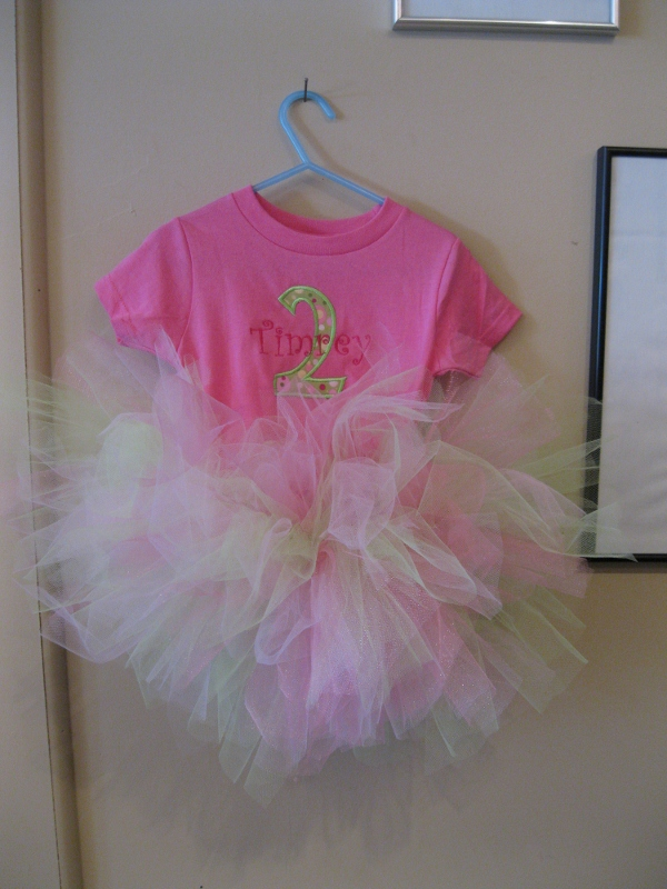 Toddler Tutu Birthday Shirt