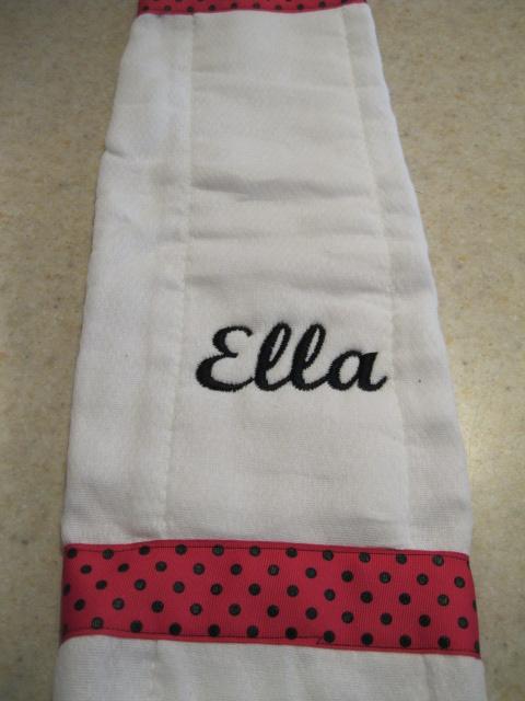 Burp & Bib Set-burp cloth, personalized burp cloth, monogrammed burp cloth, bib and burp cloth set