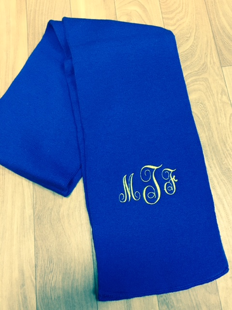 Personalized Scarves-monogrammed scarf, personalized scarf, rhinestone scarf
