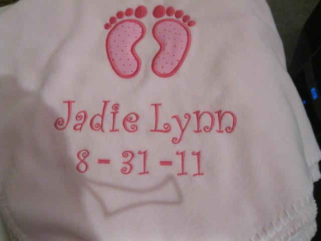 Baby Feet Baby Blanket-baby blanket, persoanlized baby blanket, feet baby blanket