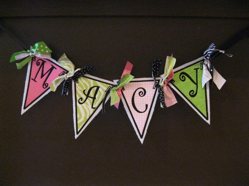 Fabric Banner 4 letter name-fabric banner, birthday banner, baby room decorations, engagement banner