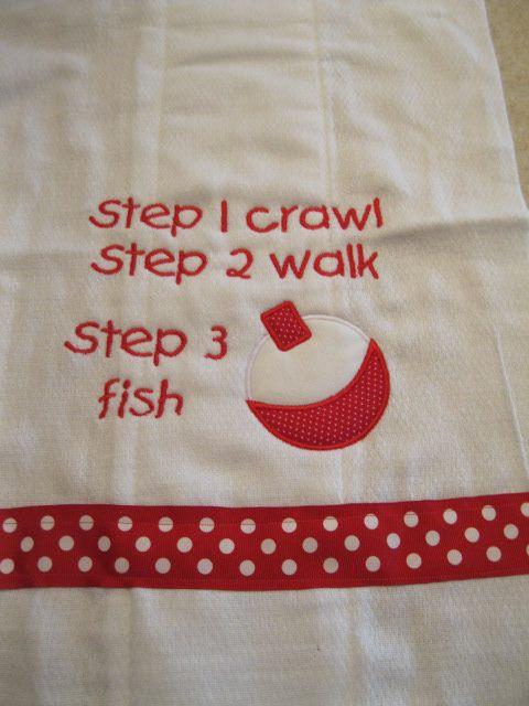 Fishing Burp Cloth-fishing burp cloth, personalized burp cloth