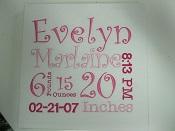 Birth Announcement Stretch Canvas-birth announcement canvas, baby birth announcement