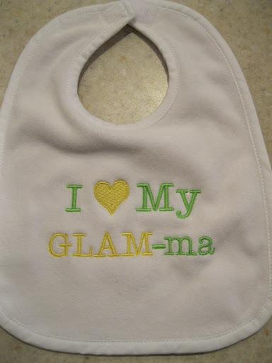 Glam Ma Bib Glammother Bib Persoanlized Grandmother Bib