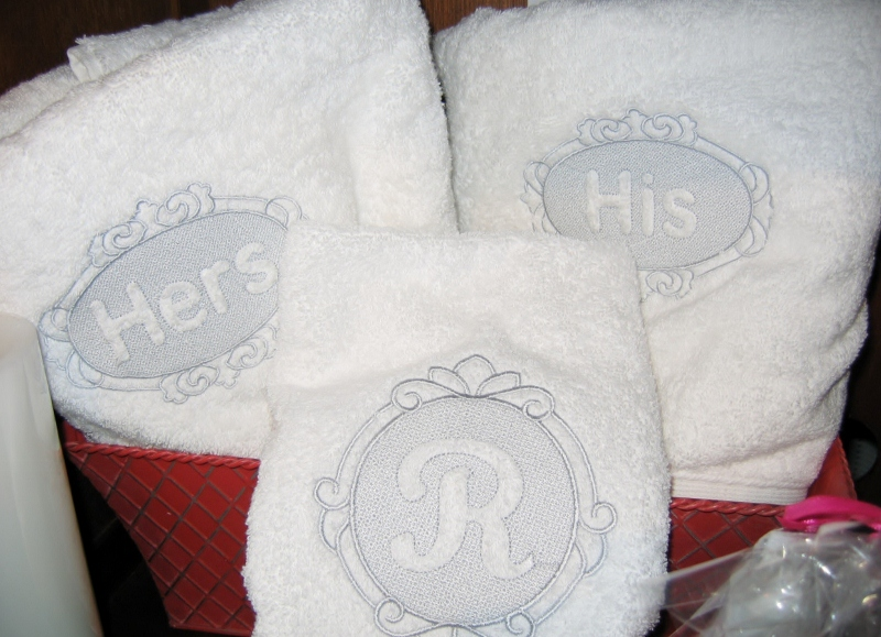 Personalised Wedding Gifts Towels : ... Hand Towel-wedding gift, bath towel, hand towel, personalized towels