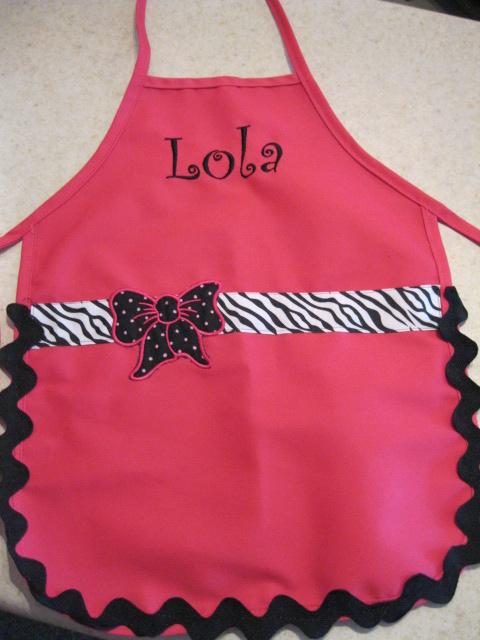 Child Apron-child apron, personalized apron, applique apron