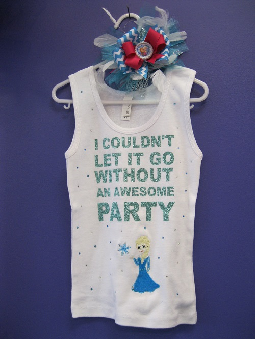 Let it go-let it go, birthday shirt, frozen, Elsa, kid birthday shirt