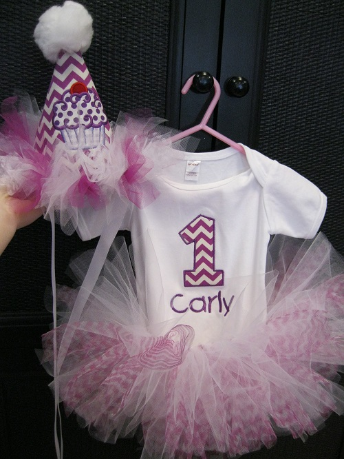 Purple Chevron First Birthday