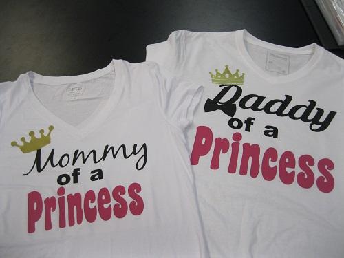 Mom And Dad Birthday Shirts Princess Theme