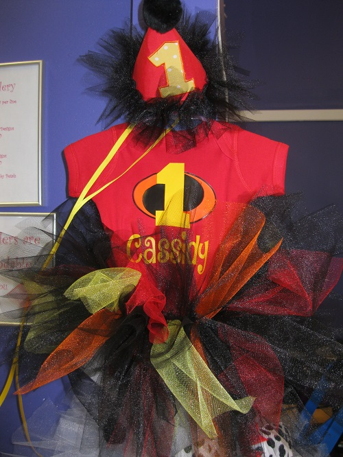 Incredibles Birthay-incredibles, first birthday, birthday, tutu, birthday hat