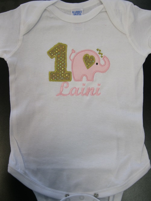 First elephant birthday shirt