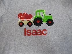 Tractor Valentine Shirt-valentine shirt, baby shirt, tractor shirt
