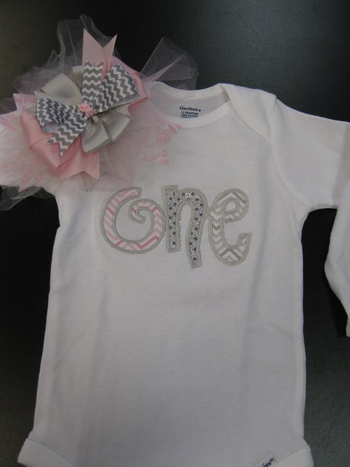 One onesie and bow