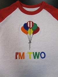 Balloons-birthday, balloons, baby, onesie