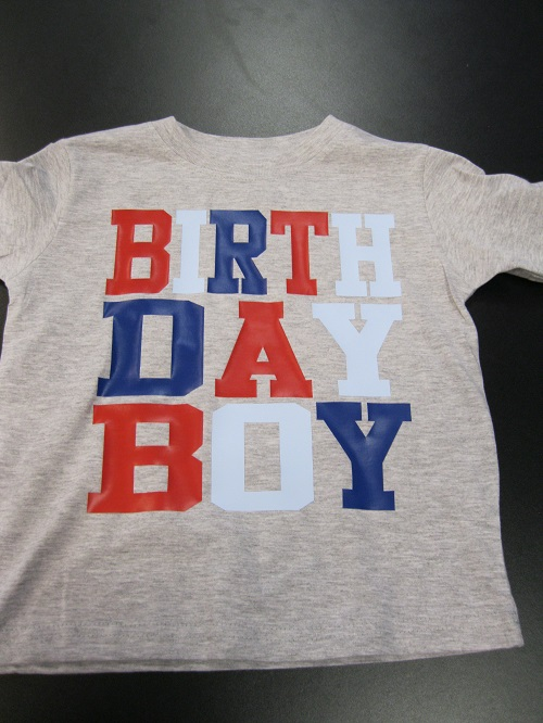 vinyl birthday boy shirt