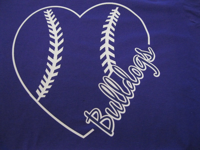 Heart Baseball Tshirt