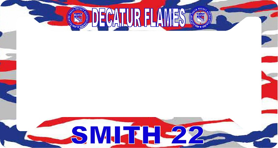 License plate cover Flames
