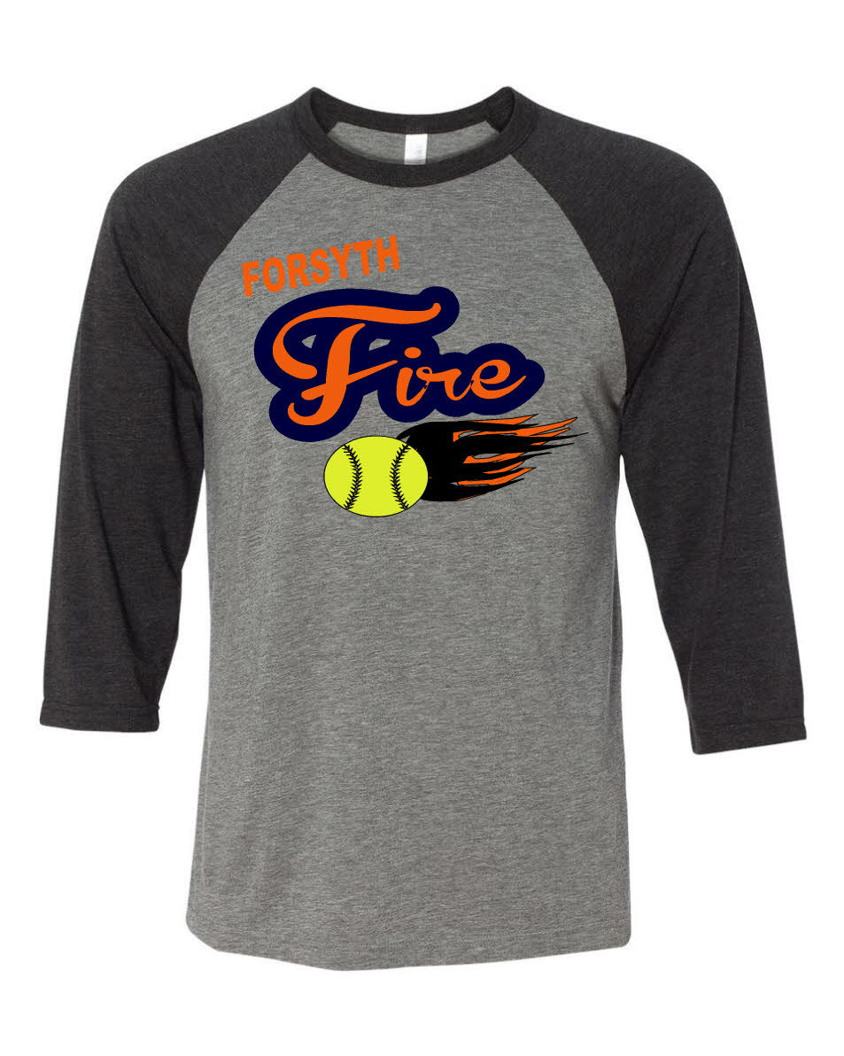 Forsyth Fire softball flames
