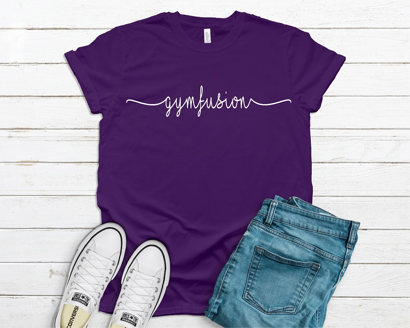 Gymfusion purple tshirt