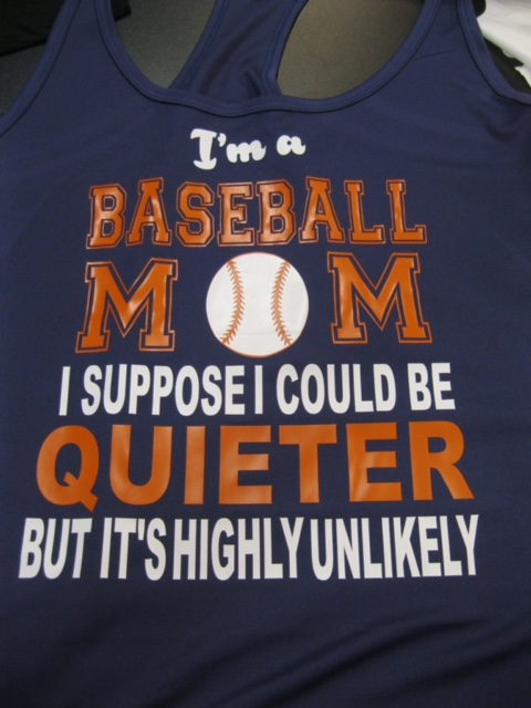 Quietter Mom Tank-Baseball mom shirt, basketball mom shirt, cheerleader mom shirt