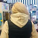 Glitter Initial hoodie