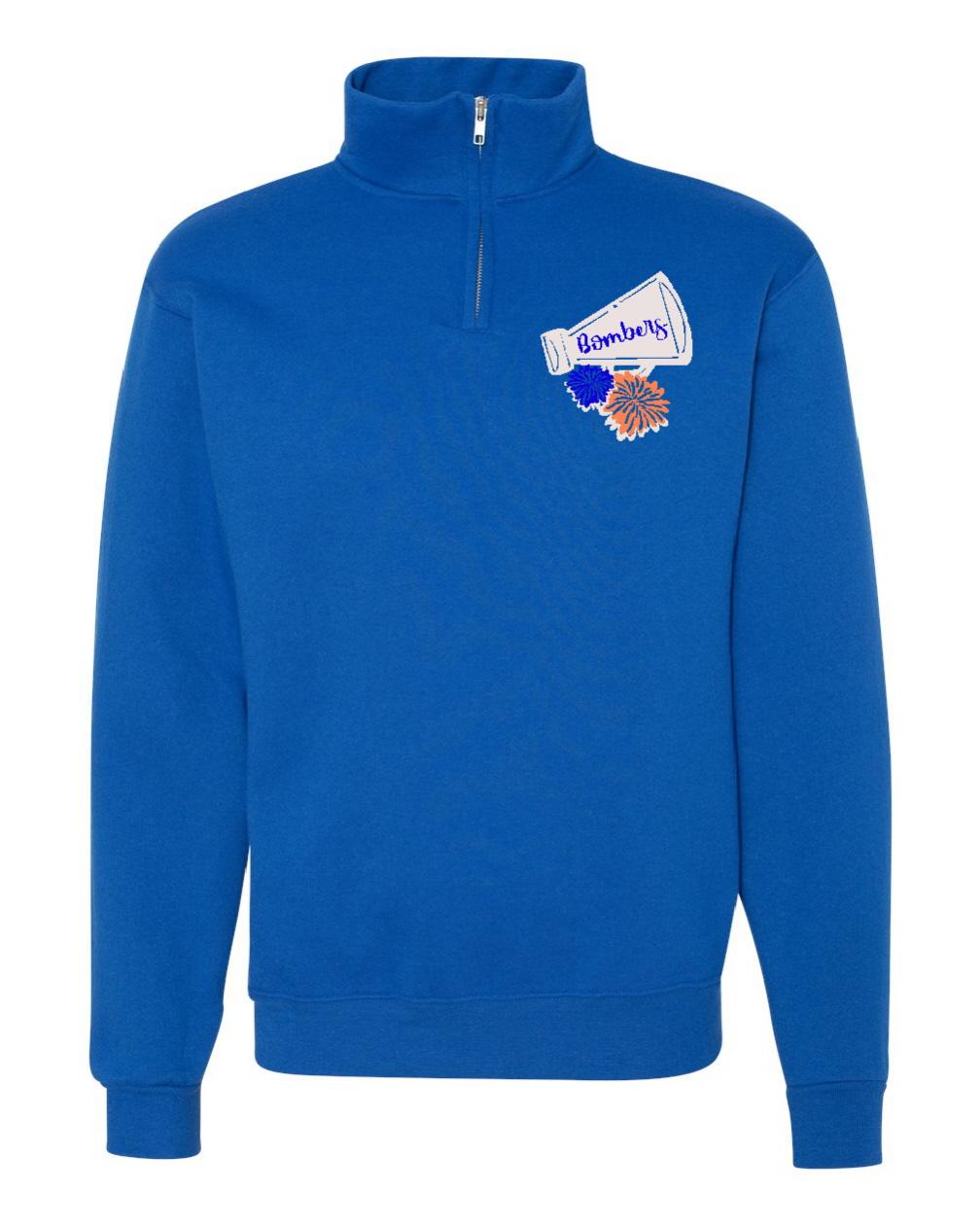 Quarter zip sweatshirt material