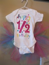 1/2 Birthday Tutu Onesie