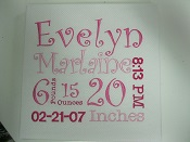 Birth Announcement Stretch Canvas