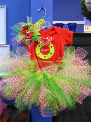 Christmas Wreath Tutu & Bow