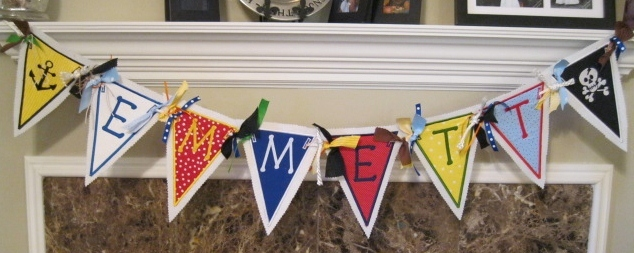 Fabric Banner 8 Letters