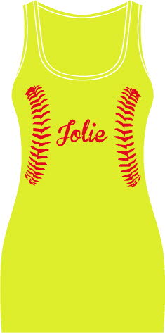 Seams on yellow with name