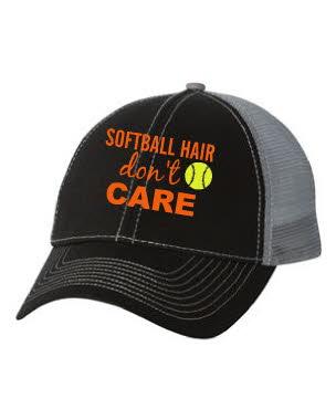 Softball hair don't care hat