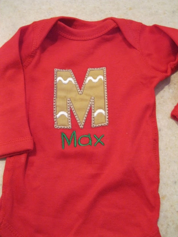 Gingerbread Cookie Personalized Onesie