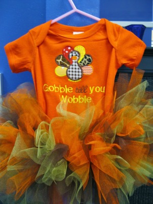 Gobble Till You Wobble Tutu