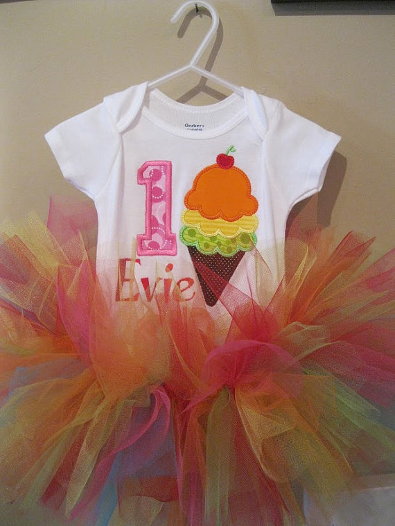 Ice cream birthday and tutu