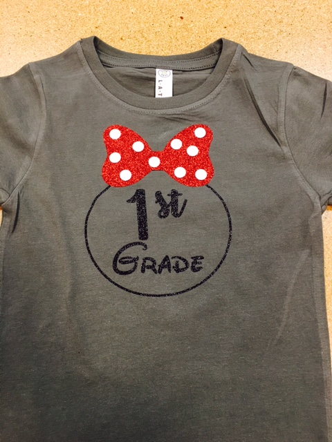 Minnie bow school shirt