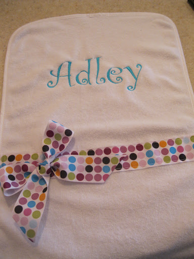 Name Burp Cloth