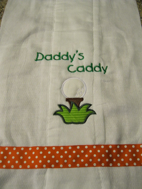Daddy's Caddy burp cloth