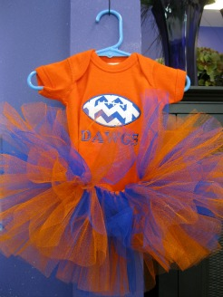 School Spirit Tutu Onesie Embroidery