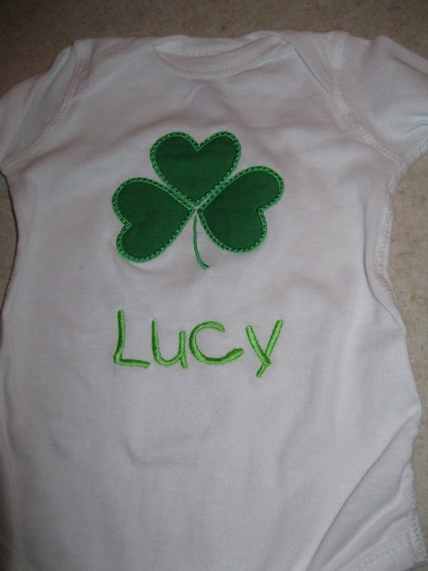 Shamrock Shirt-st. patricks day shirts, persoanlzied baby shamrock shirts, monogrammed baby shirt, monogrammed onesie for holiday