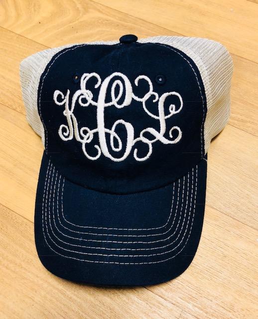 Monogrammed hats