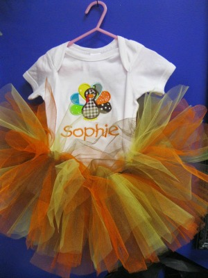 Thanksgiving Turkey Tutu Onesie