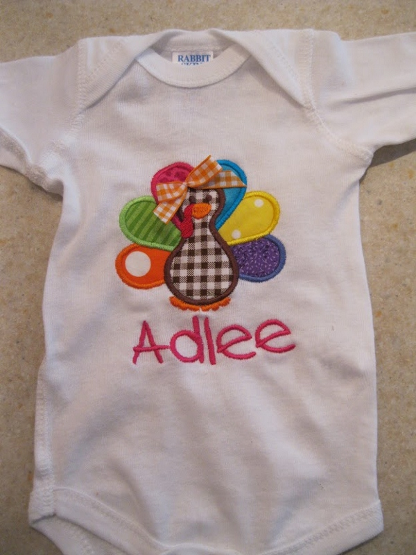 Turkey Onesie-thanksgiving personalized shirt for baby